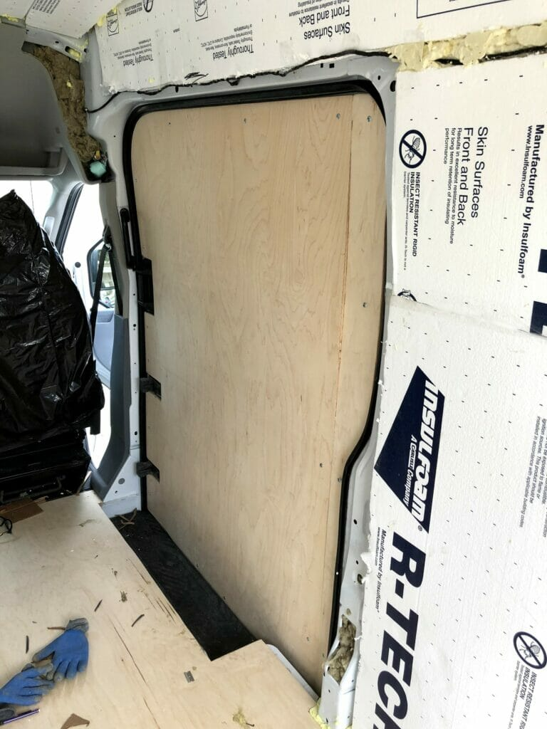 installing plywood van walls