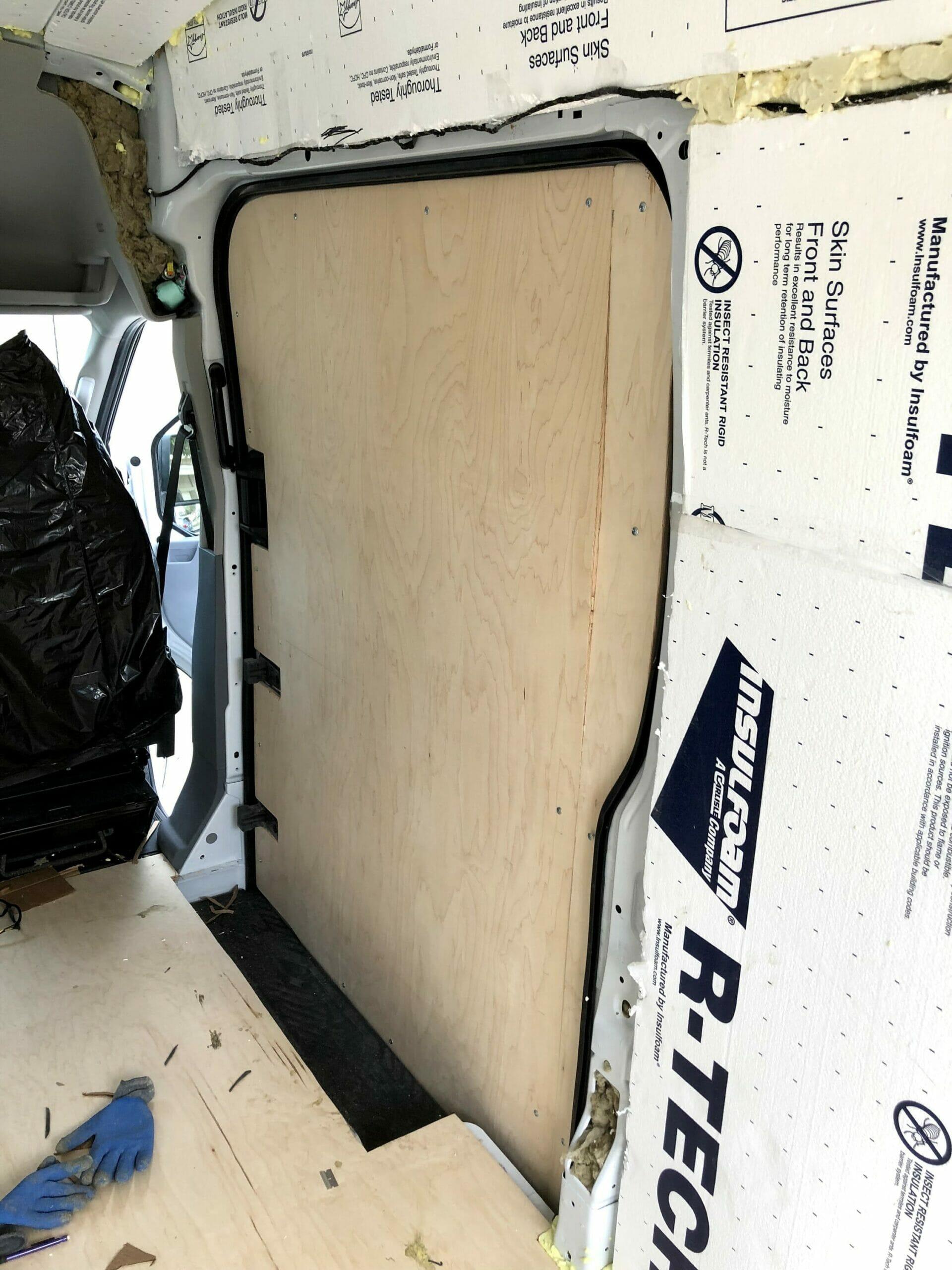 installing plywood van walls