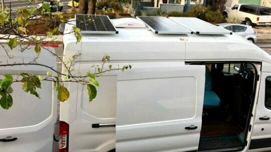 solar panels for a van roof