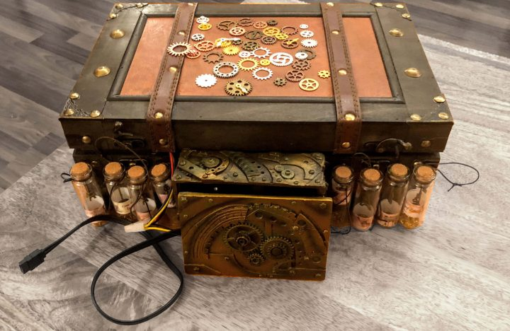 direct current low power steampunk computer exterior