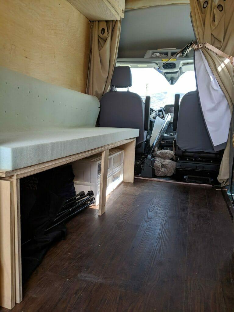 the van bed/couch prototype