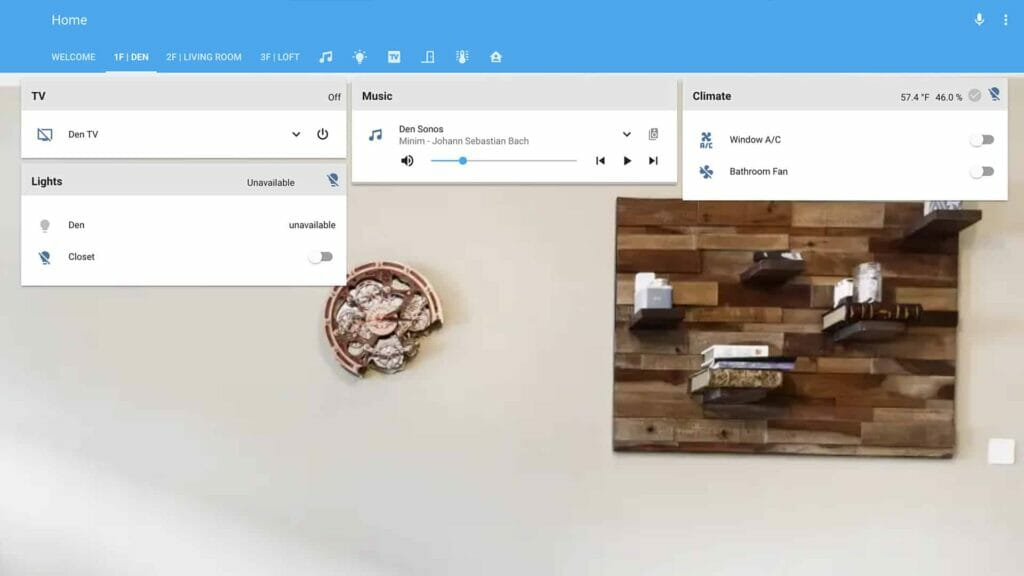 IOT home automation home assistant screenshot steampunk