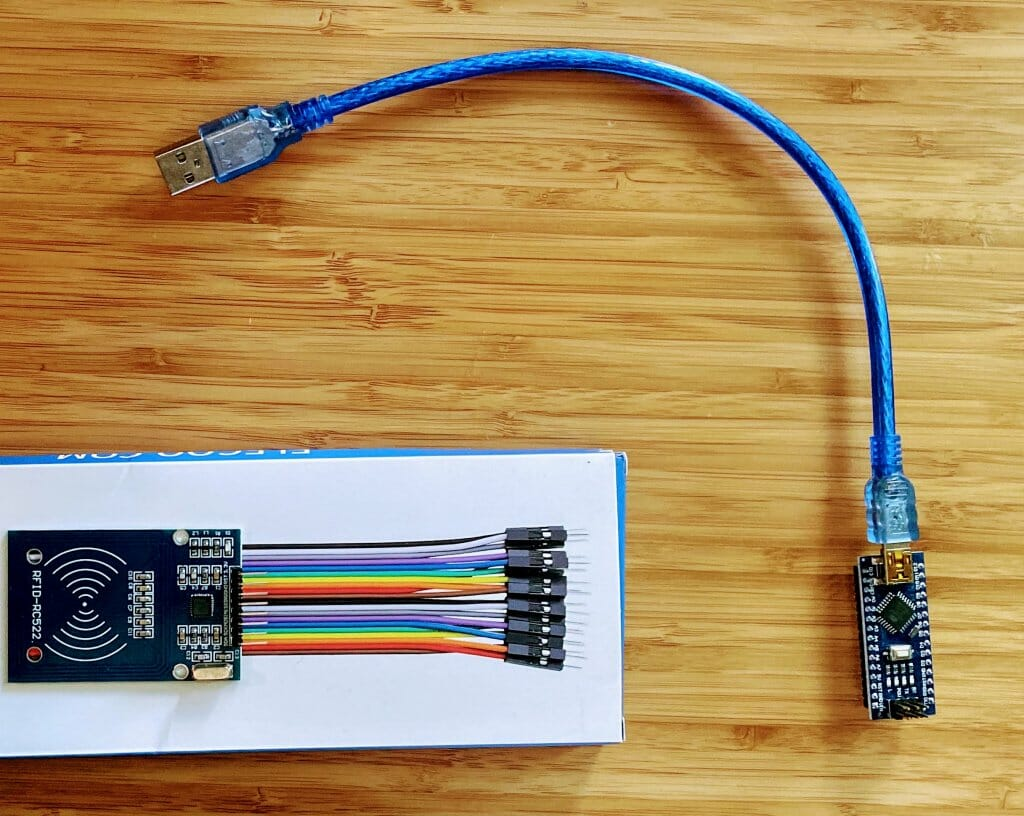 arduino nano and RFID RFC reader