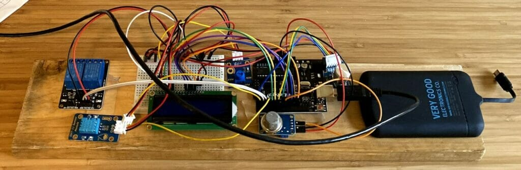 We replaced our thermostat with this DIY raspberry pi and arduino thermostat