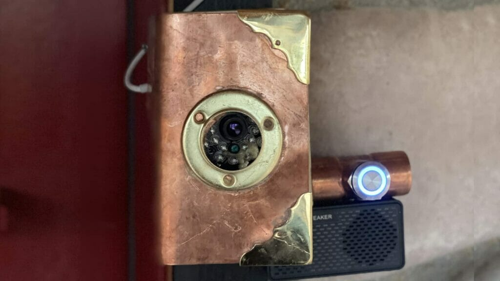 raspberry pi smart steampunk doorbell