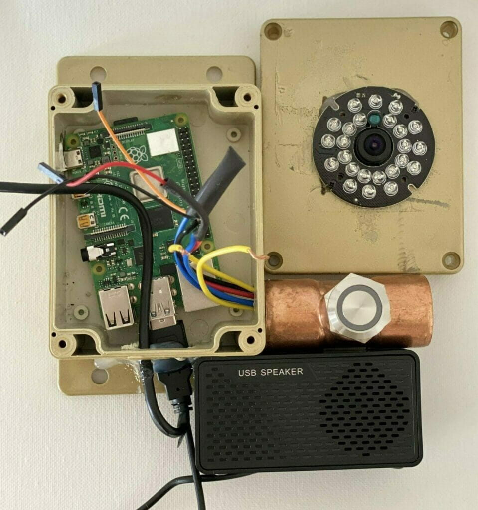assembling the raspberry pi parts to create a smart doorbell