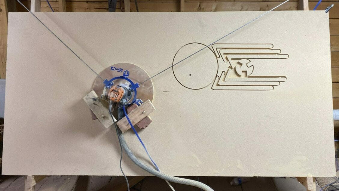 maslow cnc setup and first print