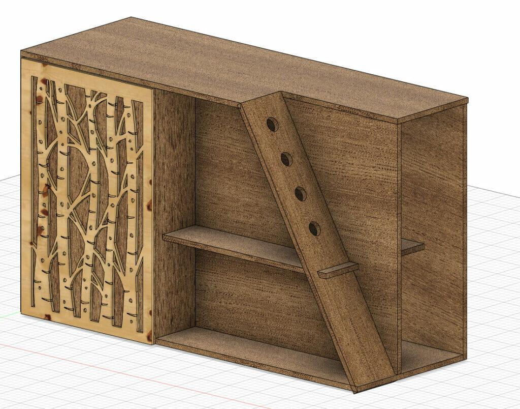 cnc cabinets fusion 360 plan bar cart