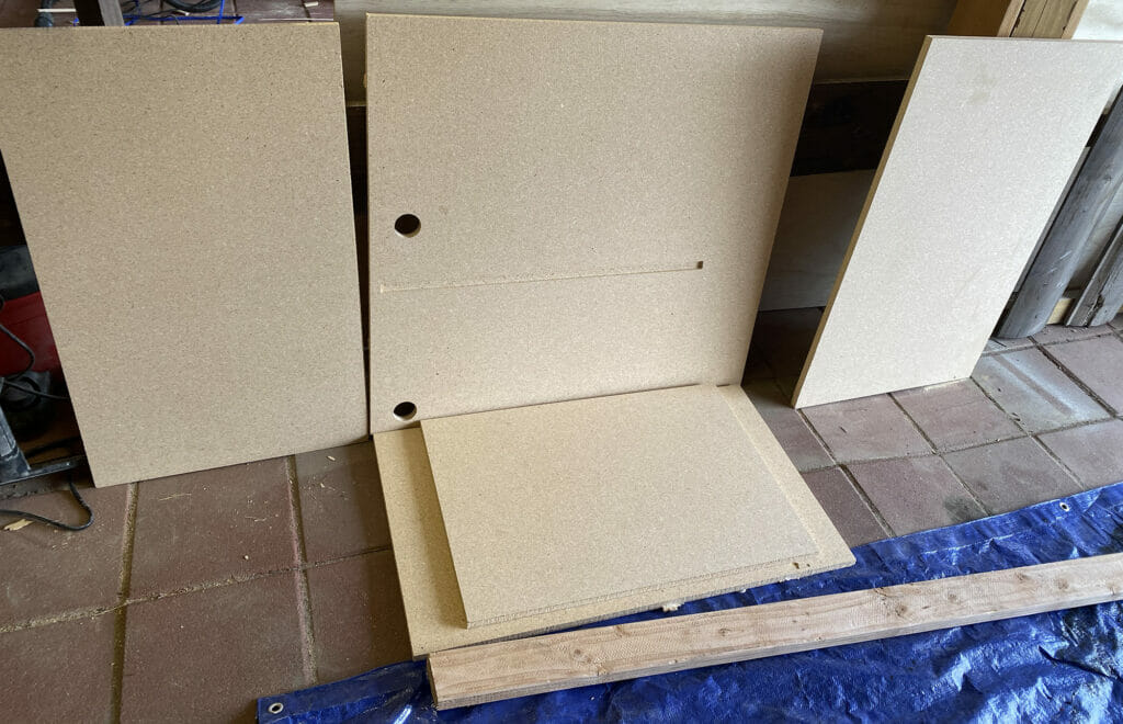 the MDF pieces of cnc cabinets