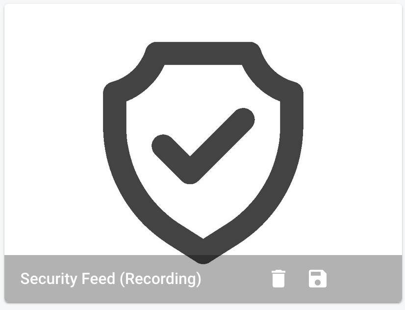 DIY home security camera UI